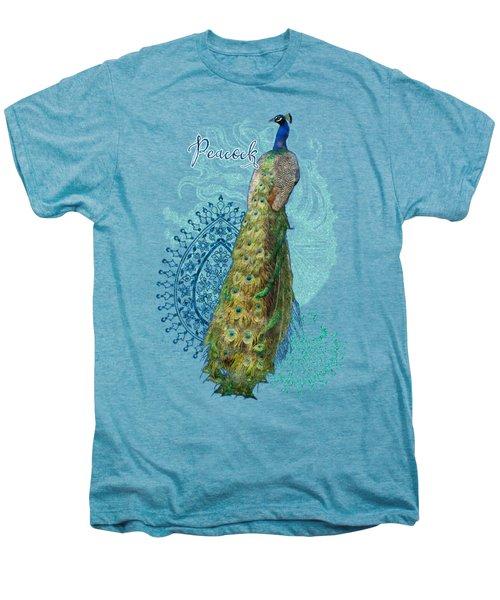 Indian Peacock Henna Design Paisley Swirls Men's Premium T-Shirt