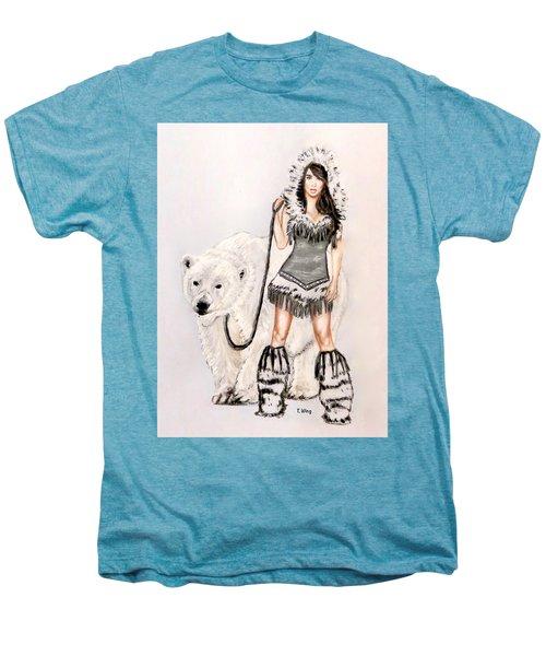 Inuit Pin-up Girl Men's Premium T-Shirt by Teresa Wing
