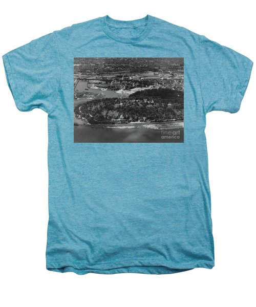 Inwood Hill Park Aerial, 1935 Men's Premium T-Shirt by Cole Thompson