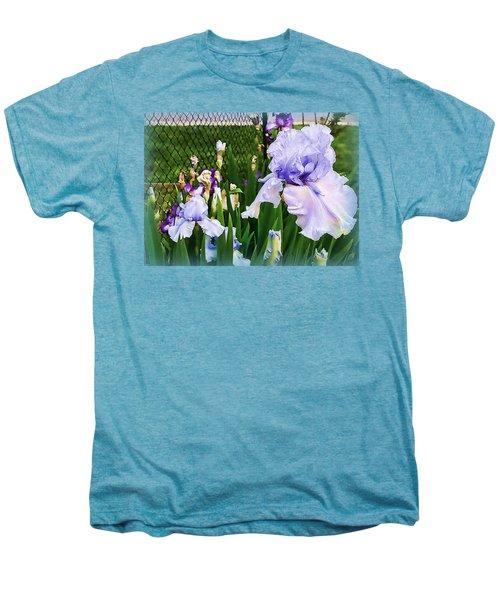 Iris At Fence Men's Premium T-Shirt by Larry Bishop