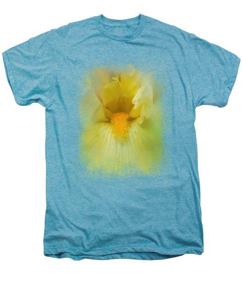 Iris In Lime Men's Premium T-Shirt