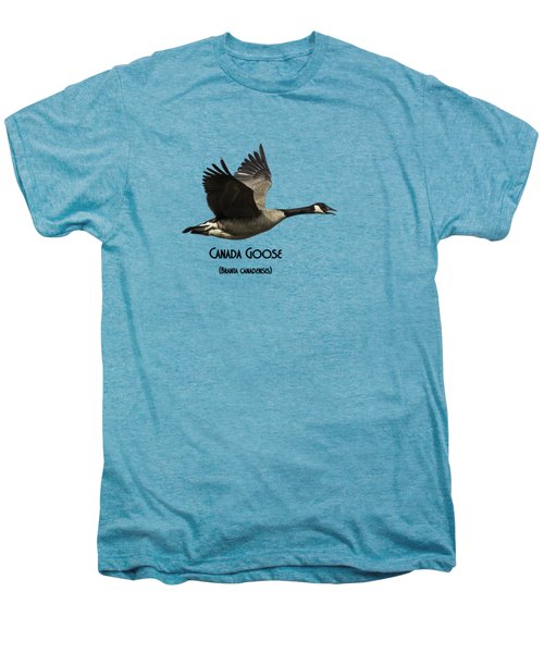 Isolated Canada Goose 2015-1 Men's Premium T-Shirt by Thomas Young