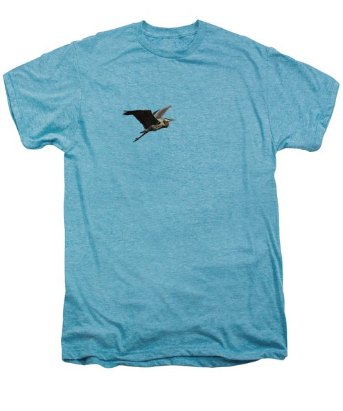 Isolated Great Blue Heron 2015-3 Men's Premium T-Shirt by Thomas Young