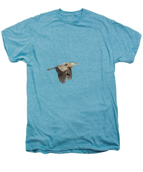 Isolated Great Blue Heron 2015-5 Men's Premium T-Shirt by Thomas Young