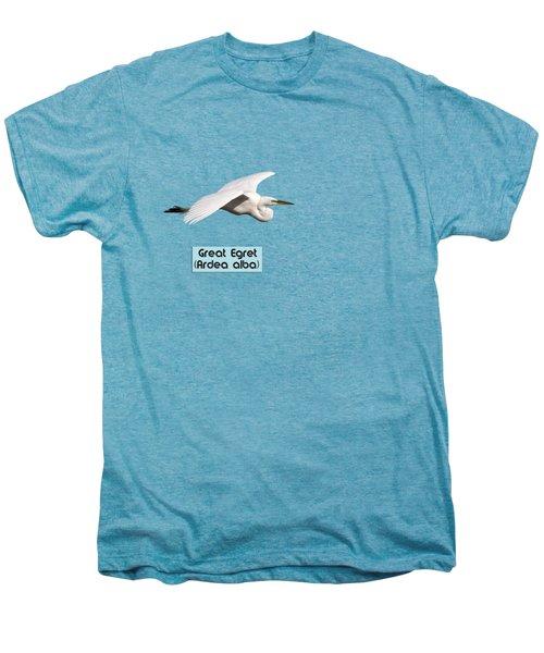 Isolated Great Egret 2018-1 Men's Premium T-Shirt