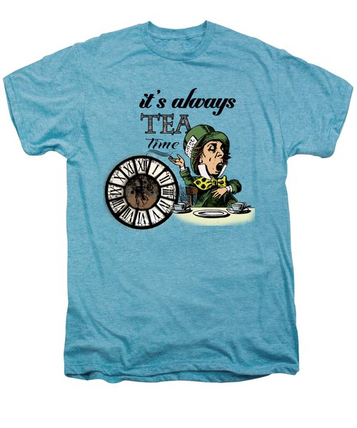 It's Always Tea Time Mad Hatter Dictionary Art Men's Premium T-Shirt by Jacob Kuch