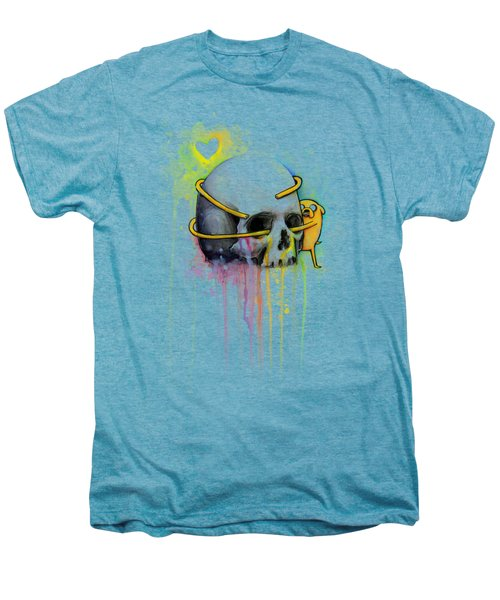 Jake The Dog Hugging Skull Adventure Time Art Men's Premium T-Shirt