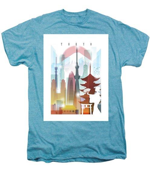 Japan Tokyo 2 Men's Premium T-Shirt by Unique Drawing