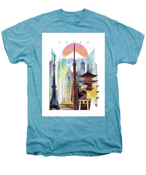 Japan Tokyo Men's Premium T-Shirt by Unique Drawing