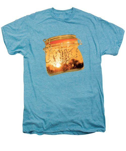 Men's Premium T-Shirt featuring the photograph Jar Full Of Sunshine by Linda Lees