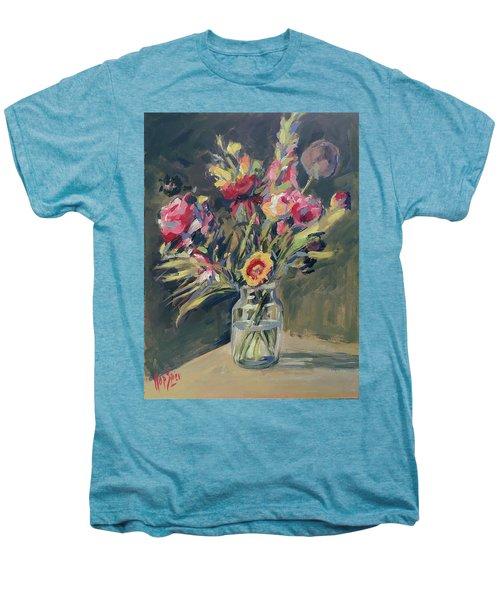 Jar Vase With Flowers Men's Premium T-Shirt