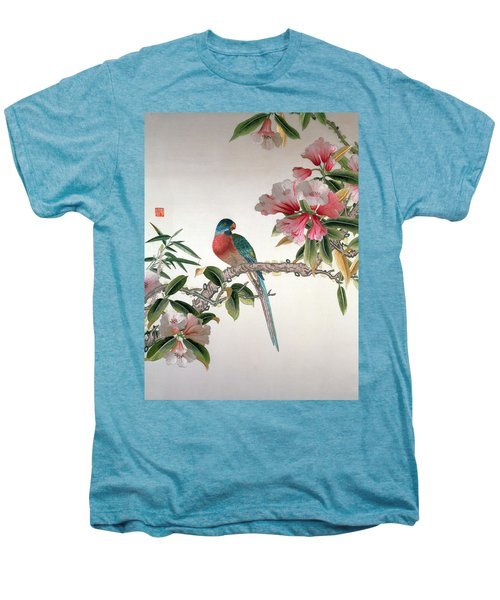 Jay On A Flowering Branch Men's Premium T-Shirt by Chinese School