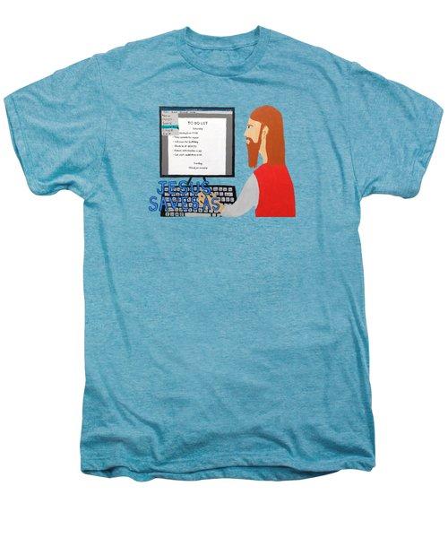 Jesus Saves As Men's Premium T-Shirt