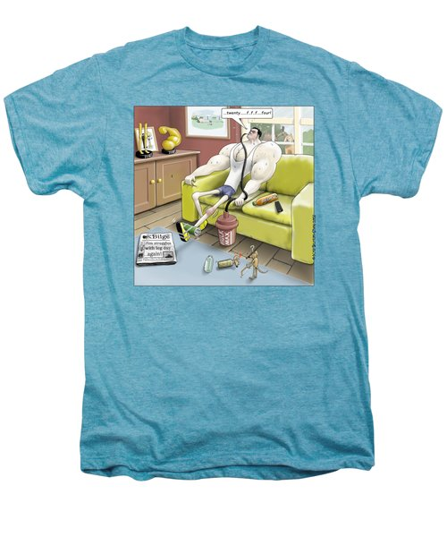 Jim - Leg Day Men's Premium T-Shirt by Kris Burton-Shea