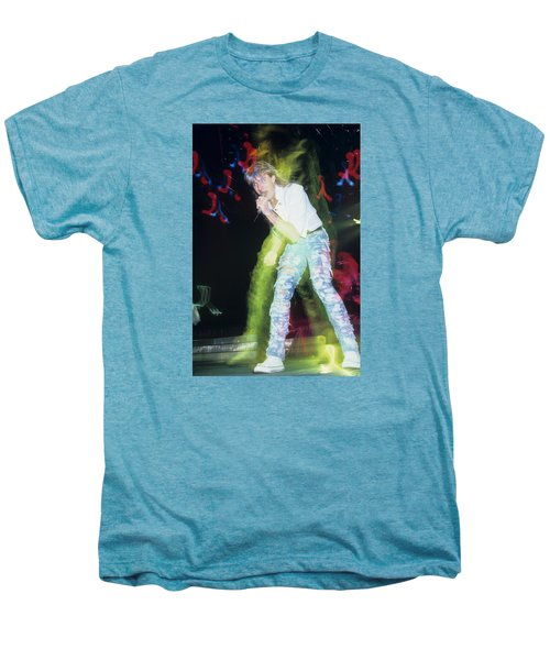 Joe Elliott Of Def Leppard Men's Premium T-Shirt by Rich Fuscia