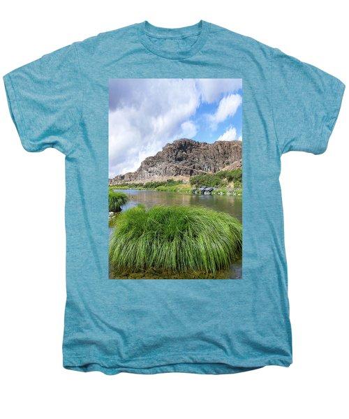 John Day River Landscape In Summer Portrait Men's Premium T-Shirt