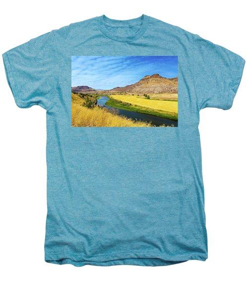 John Day River Panoramic View Men's Premium T-Shirt