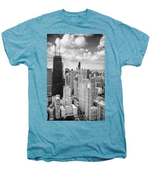 John Hancock Building In The Gold Coast Black And White Men's Premium T-Shirt by Adam Romanowicz