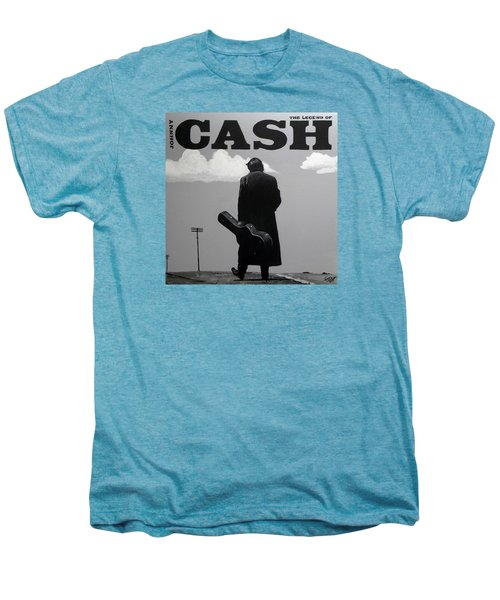 Johnny Cash Men's Premium T-Shirt by Tom Carlton