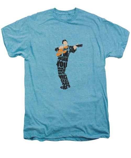 Johnny Cash Typography Art Men's Premium T-Shirt
