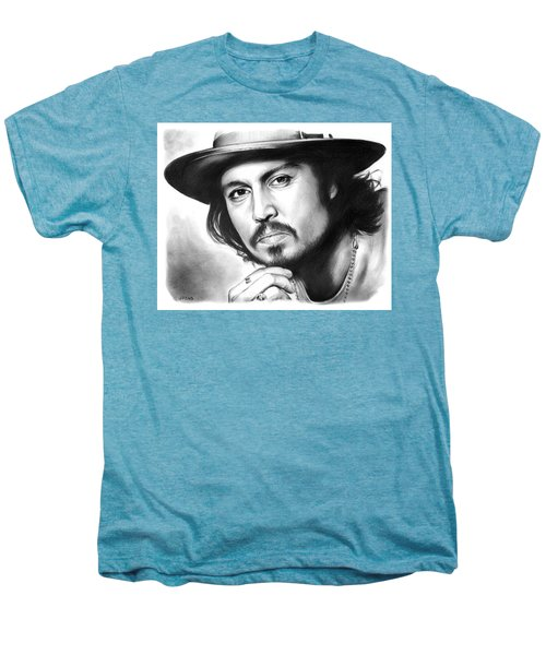 Johnny Depp Men's Premium T-Shirt by Greg Joens