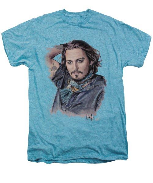 Johnny Depp Men's Premium T-Shirt by Melanie D