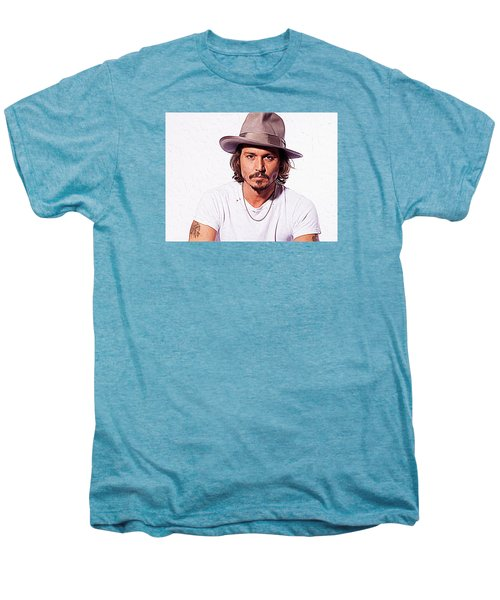 Johnny Depp Men's Premium T-Shirt by Iguanna Espinosa