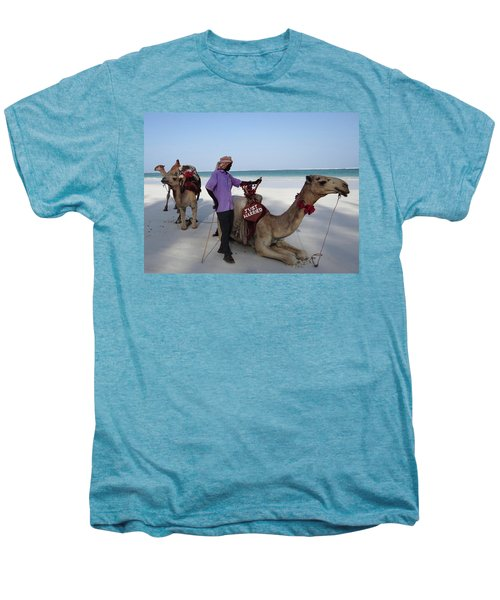 Just Married Camels Kenya Beach 2 Men's Premium T-Shirt
