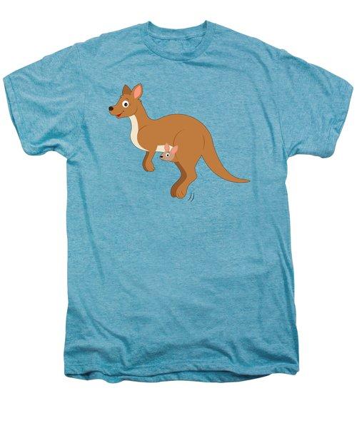 Mamma Kangaroo And Joey Men's Premium T-Shirt by A