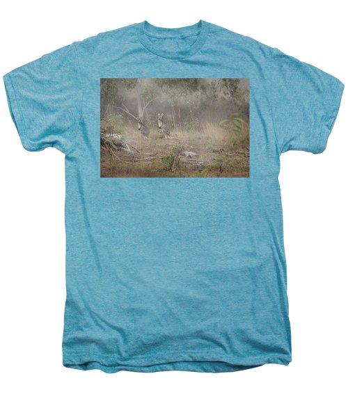 Kangaroos In The Mist Men's Premium T-Shirt by Az Jackson