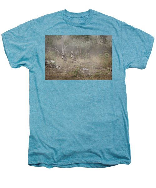 Kangaroos In The Mist Men's Premium T-Shirt