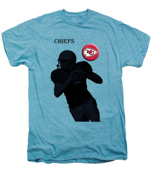 Kansas City Chiefs Football Men's Premium T-Shirt by David Dehner