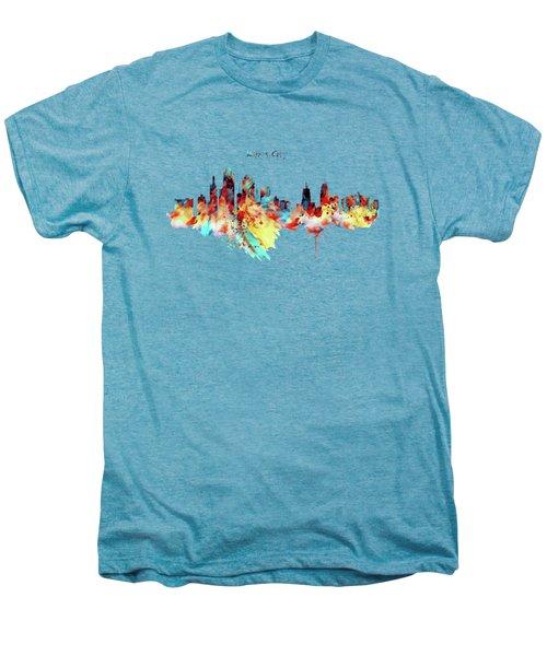 Kansas City Skyline Silhouette Men's Premium T-Shirt by Marian Voicu