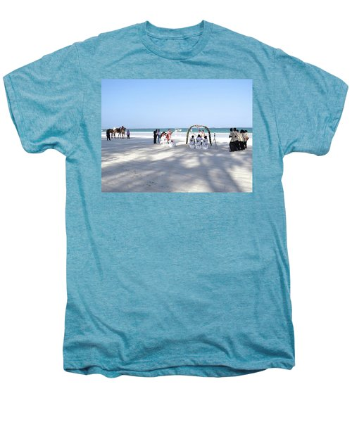 Kenya Wedding On Beach Wide Scene Men's Premium T-Shirt by Exploramum Exploramum