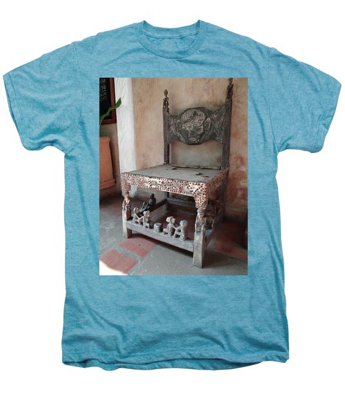 Kenyan African Antique Carved Chair Men's Premium T-Shirt by Exploramum Exploramum
