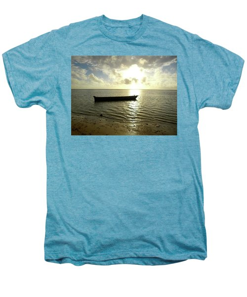 Kenyan Wooden Dhow At Sunrise Men's Premium T-Shirt by Exploramum Exploramum