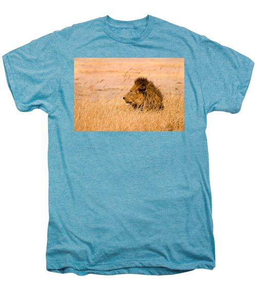 Men's Premium T-Shirt featuring the photograph King Of The Pride by Adam Romanowicz