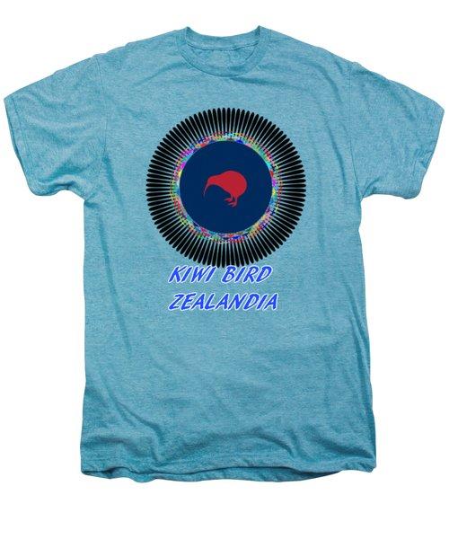 Kiwi Bird Zealandia Mandala Men's Premium T-Shirt by Peter Gumaer Ogden