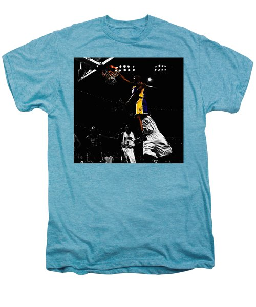 Kobe Bryant On Top Of Dwight Howard Men's Premium T-Shirt by Brian Reaves