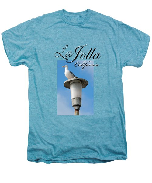 La Jolla Beach Seagull II Men's Premium T-Shirt by K D Graves