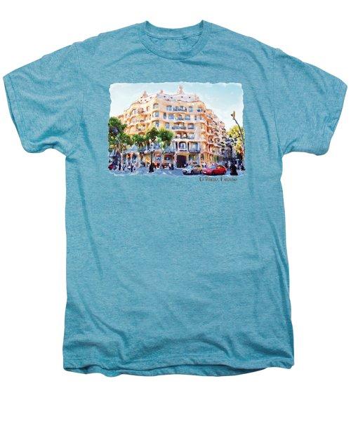 La Pedrera Barcelona Men's Premium T-Shirt by Marian Voicu