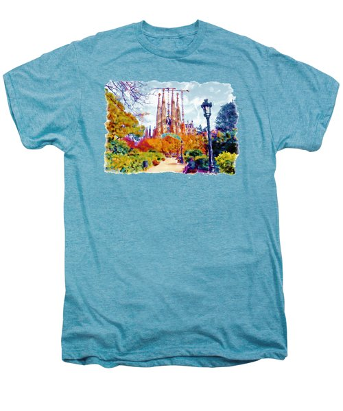 La Sagrada Familia - Park View Men's Premium T-Shirt by Marian Voicu