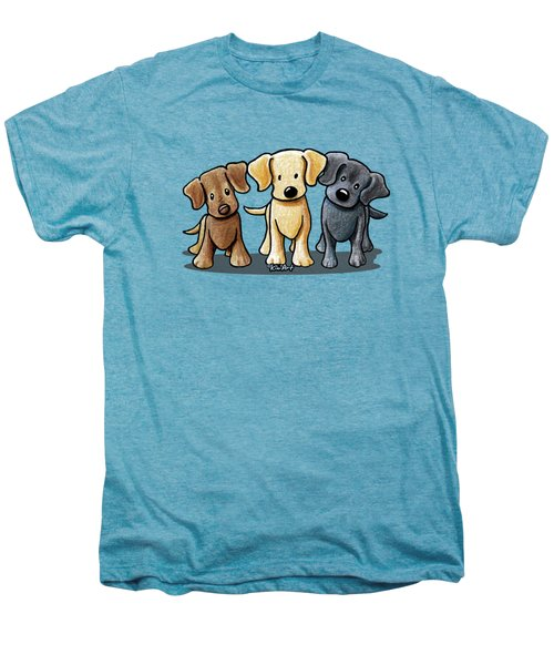 Labrador Beach Trio Men's Premium T-Shirt