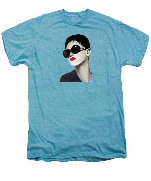 Lady With Sunglasses Men's Premium T-Shirt by Birgit Jentsch