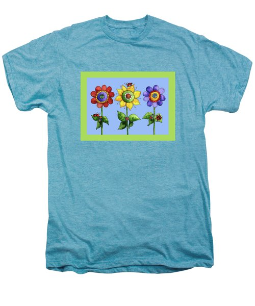Ladybugs In The Garden Men's Premium T-Shirt by Shelley Wallace Ylst