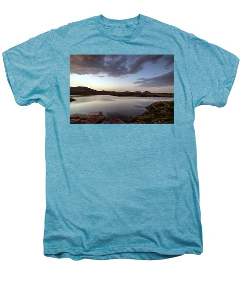 Lake In The Wichita Mountains  Men's Premium T-Shirt