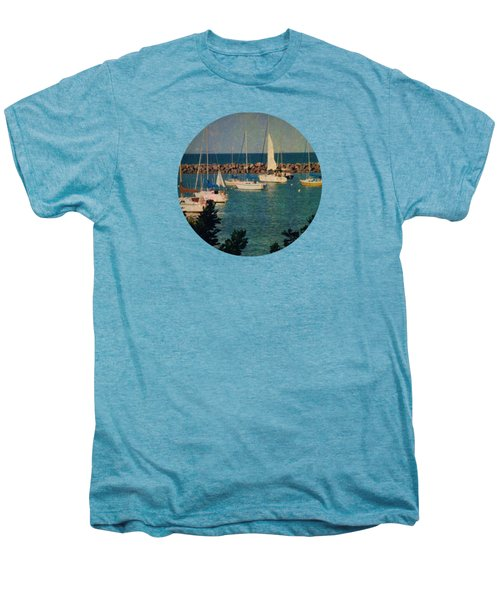 Lake Michigan Sailboats Men's Premium T-Shirt