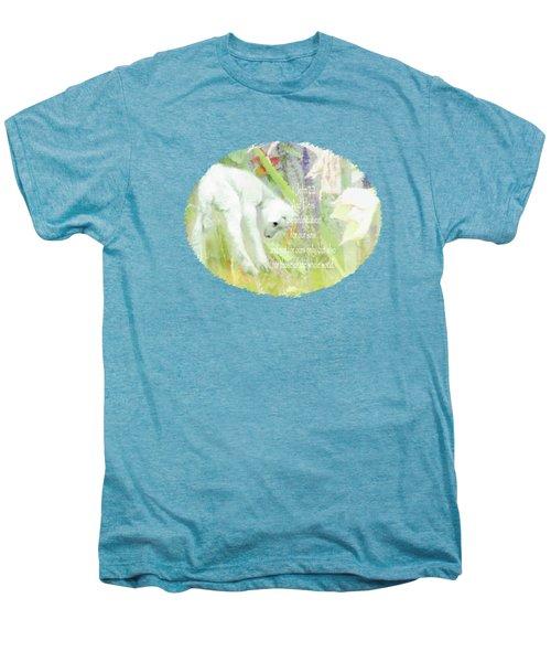 Lamb And Lilies - Verse Men's Premium T-Shirt by Anita Faye