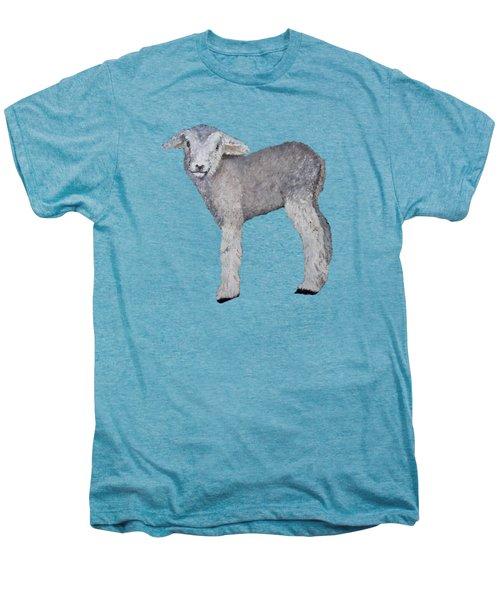 Lamb Men's Premium T-Shirt by Petra Stephens