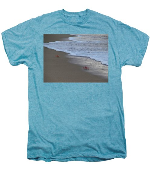 Lamu Island - Crabs Playing At Sunset 4 Men's Premium T-Shirt by Exploramum Exploramum